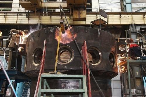 Завершена уникальная операция сварки элементов корпуса реакторной установки РИТМ-200