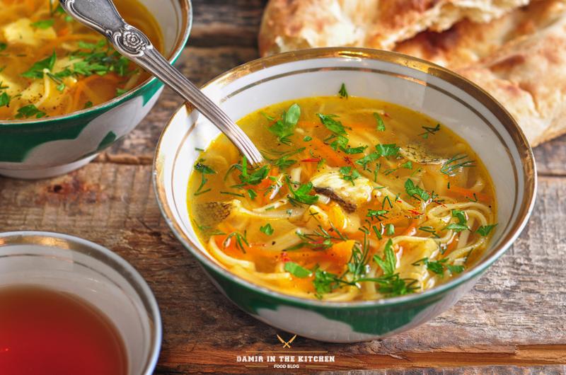 Шорба огурджалинская (Туркменская кухня)