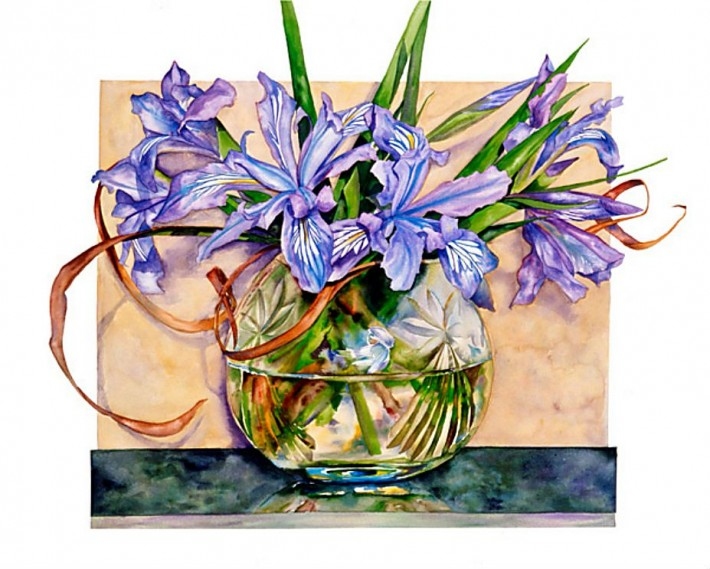 Цветы в акварели Sally Robertson (62 картины)