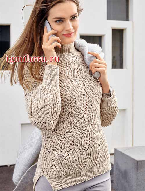 свитер с интересным узором