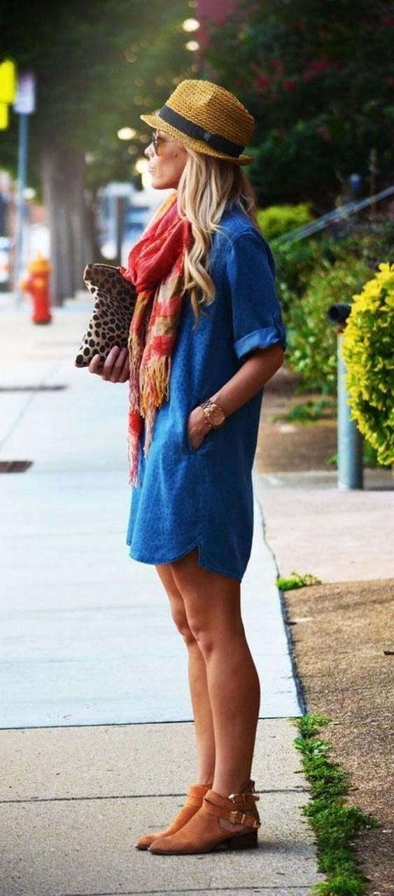 Модный ориентир: джинсовое платье