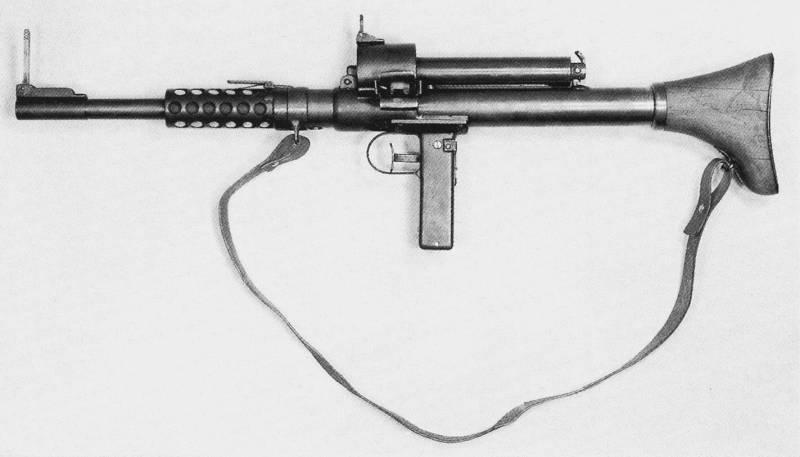 Пистолет пулемет с ленточным питанием конструкции А. Коендерса (Германия)