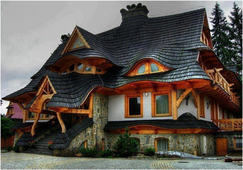 Сказочный домик в Закопане, Польша