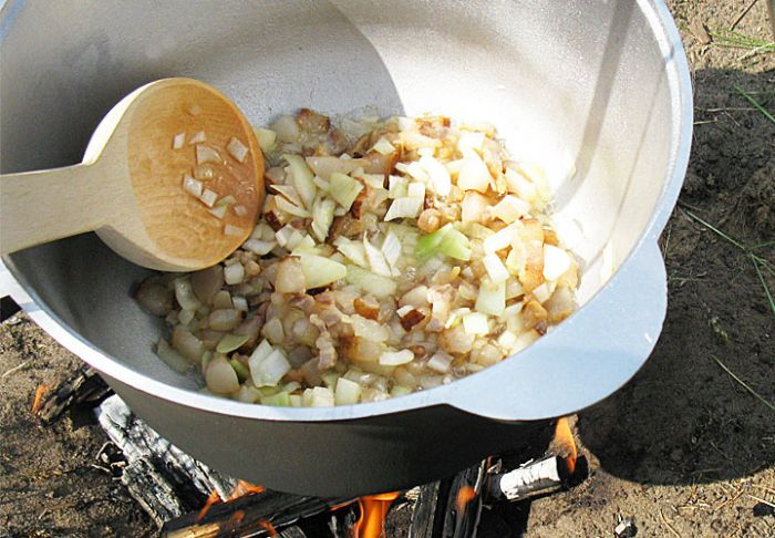 Гречневая каша на костре пошаговый рецепт