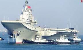 Первый авианосец Китая «Ляонин» впервые пришел в новый военный порт в Циндао