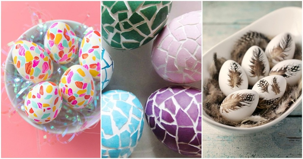 Простой, но оригинальный способ покрасить яйца к Пасхе