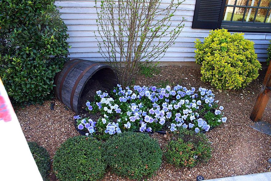 Оформление клумб цветочных клумб фото