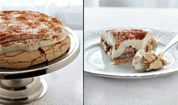 Самый знаменитый торт Павлова «Капучино». Любителям кофе и капучино посвящается