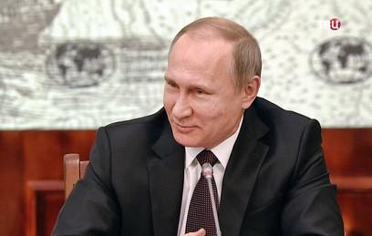 Путин сравнил себя с морским ангелом, поедающим чертей