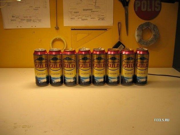 Не выкидывайте банки из-под пива!