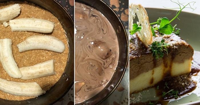 Как приготовить торт с шоколадом и бананами без выпечки