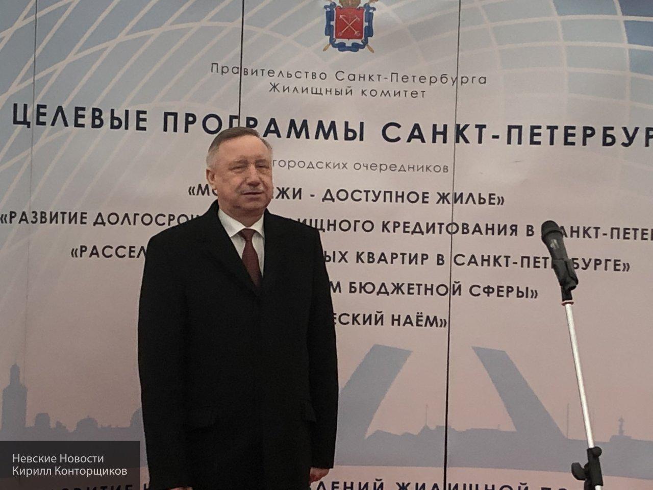 Беглов участвовал в церемонии вручения ключей от новых квартир молодым семьям в Кронштадте