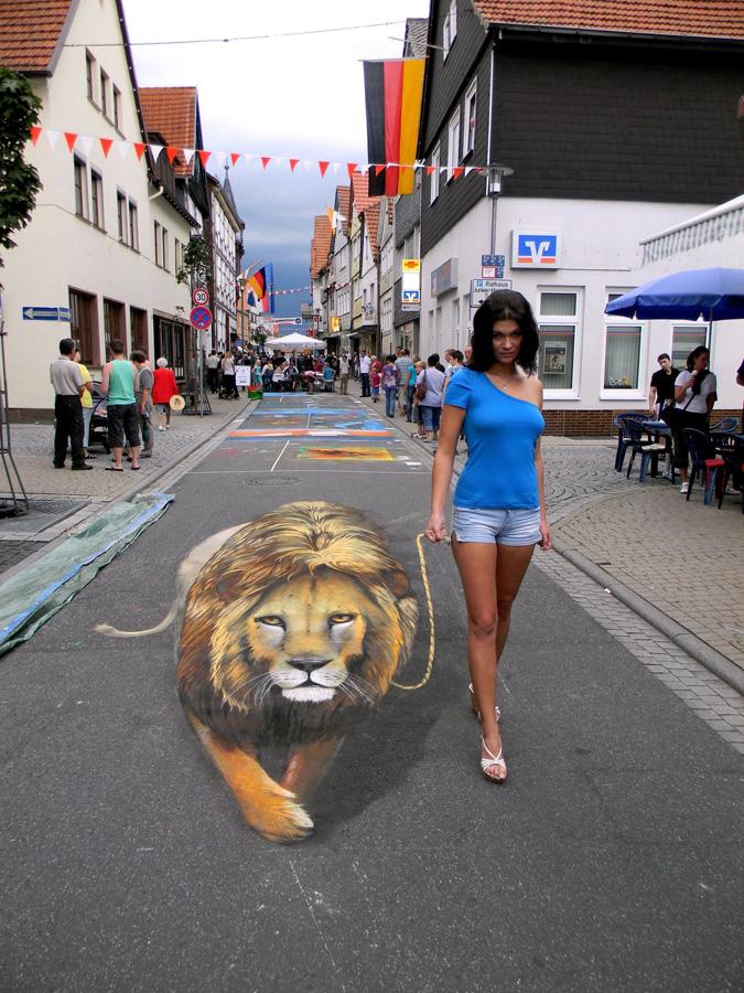 3d 12 Уличные 3D рисунки Николая Арндта