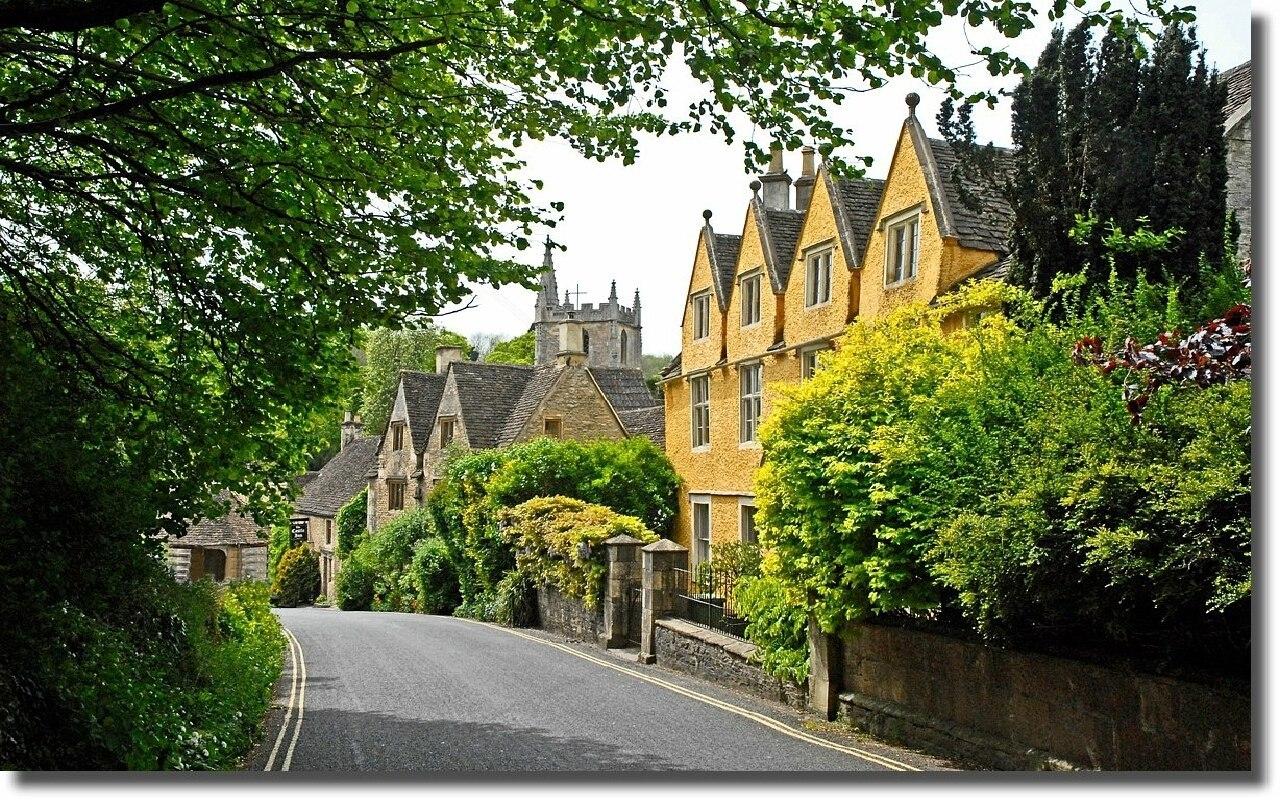 Касл Ком - самая красивая деревня в Англии!