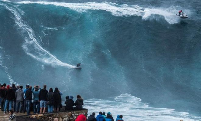 Самые большие волны, заснятые на видео
