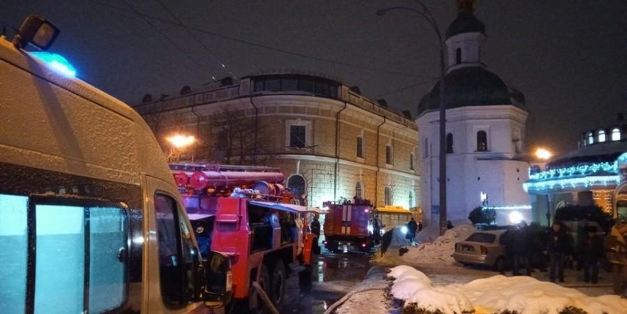 В Киеве задержали возможного виновника пожара в лавре