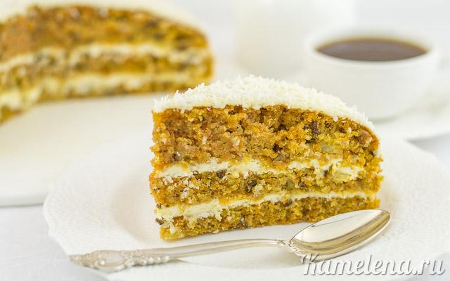 Тропический тыквенный торт