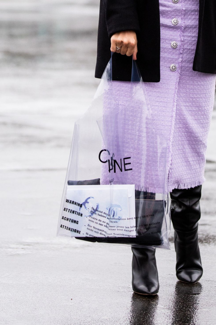 Прозрачная сумка на лето