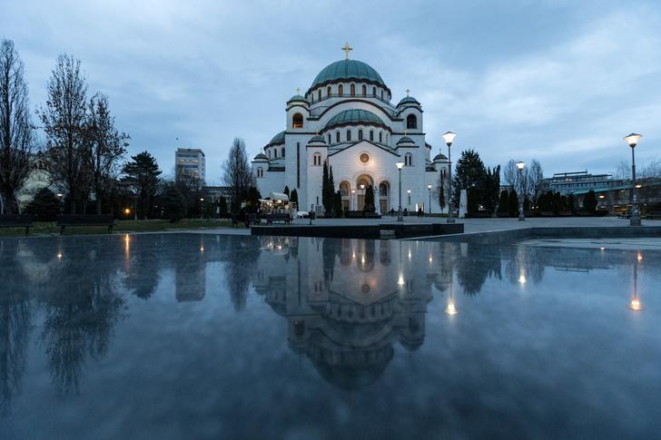 В Белграде состоялось открытие мозаичного убранства купола храма Святого Саввы