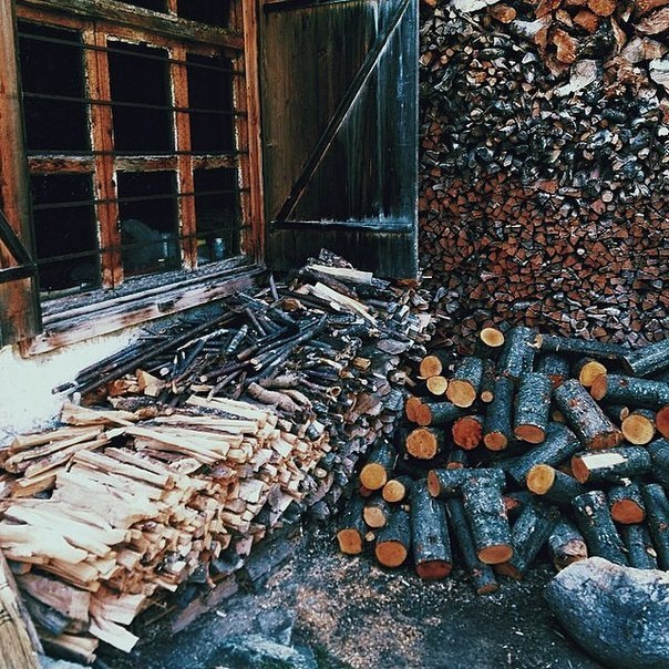 Заготовка дров или как это делали раньше