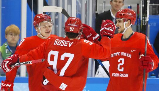 Сборная России по хоккею зан…