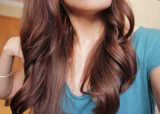 Как сделать черные волосы каштановыми волосами6
