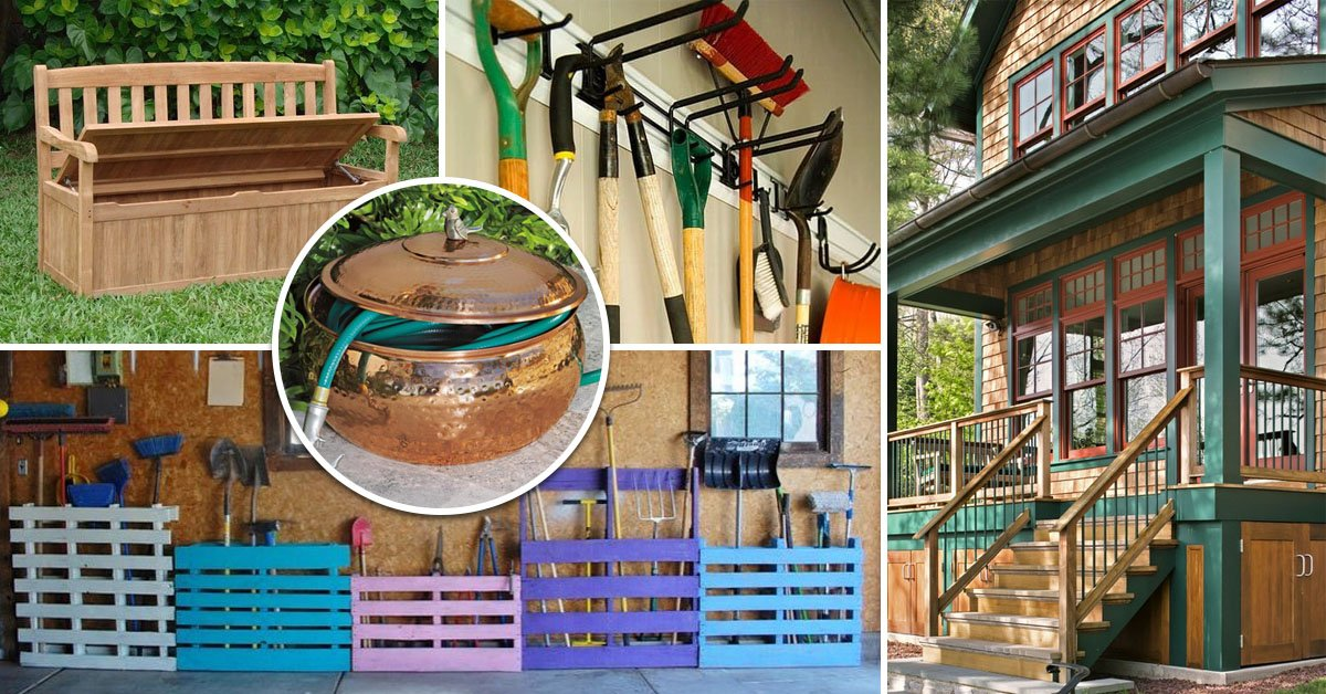 Простые решения для хранения садового инвентаря