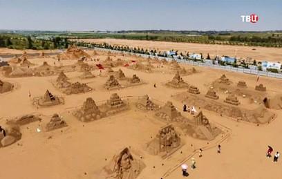 В Китае построили крупнейшую в мире скульптуру из песка