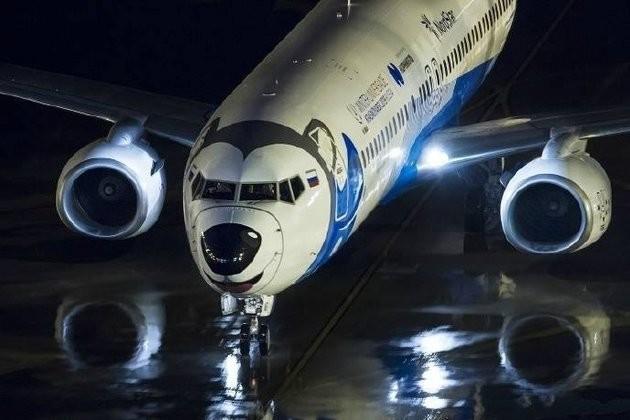 Самолет с красноярской лайкой умилил китайцев