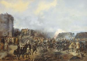 Бой на Малаховом кургане в Севастополе в 1855 году