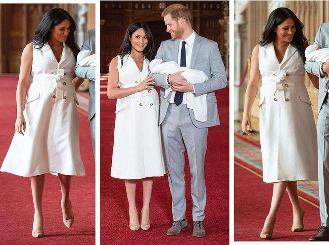 5 двубортных платьев, как у герцогини Меган на официальном фотоколле