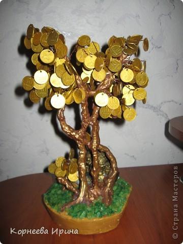 Мастер-класс День рождения Моделирование конструирование Денежное дерево МК фото 2