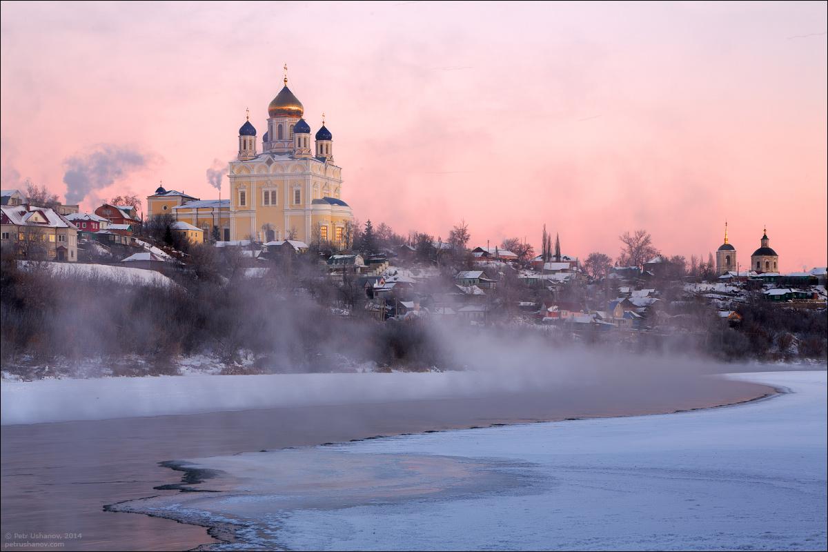 Елец зимой, Вознесенский собор на рассвете