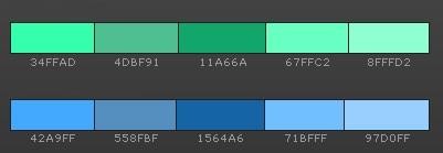 как сочетать зеленый с синим?