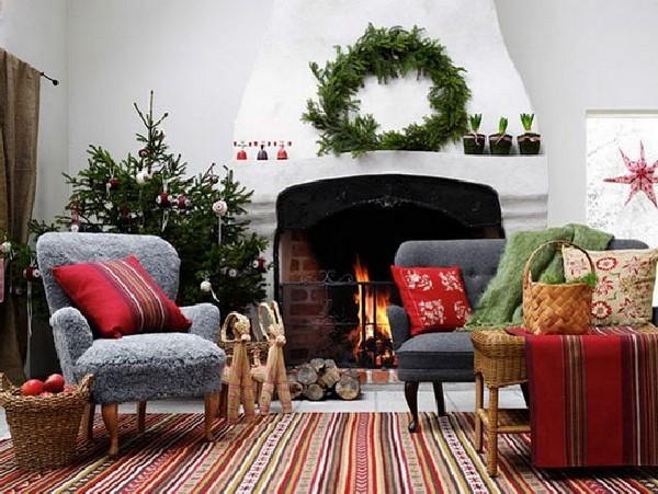 Украшение дома на Новый год Козы