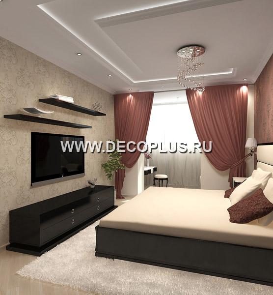 Дизайн спальни 16 кв м с балконом..