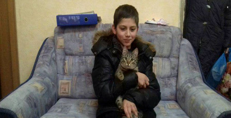В Калининграде бездомный кот согрел пропавшего школьника
