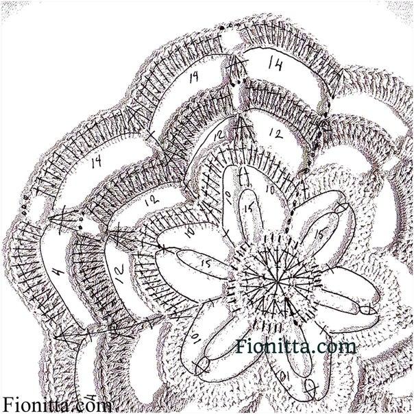 """Нереальной красоты мотив """"Цветы пассифлоры"""". Схема, МК"""