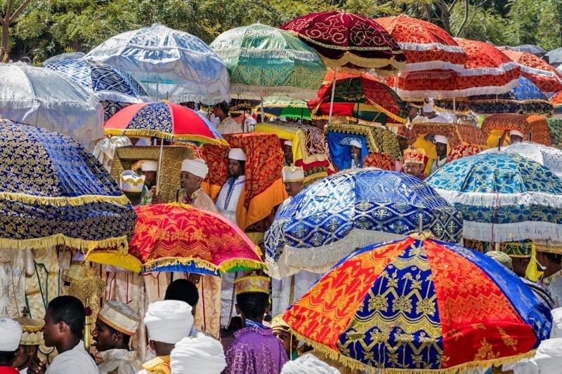 Праздник Тимкат (Крещение) в мире, жизнь, интересно, удивительно, церковь, эфиопия