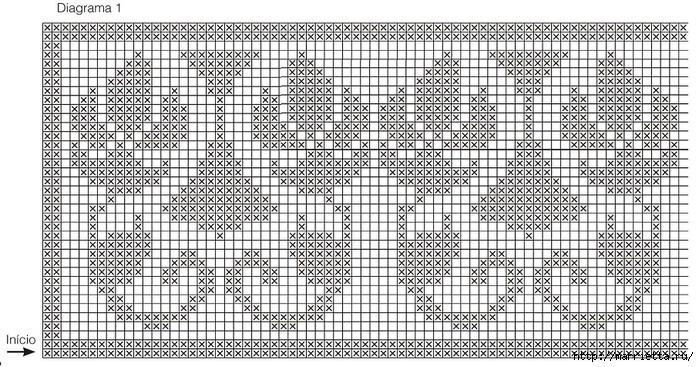 Обвязка крючком постельного белья. Схема (1) (700x367, 303Kb)