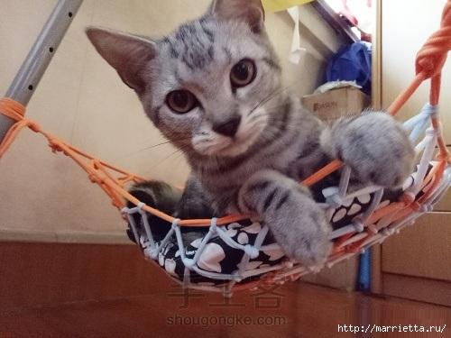 Гамак для кошки своими руками из футболок