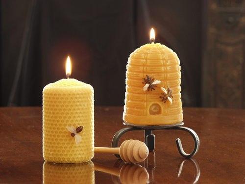 Как сделать свечу из меда
