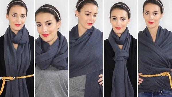 Как носить шарф по-французски: самые модные и популярные способы