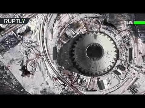 Взгляд из космоса: спутник запечатлел 12 стадионов, которые примут матчи ЧМ-2018