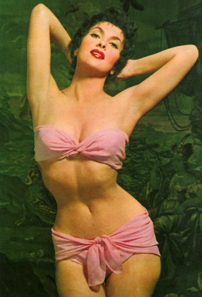 Секс-символ 50-ых Джина Лоллобриджида во всей красе.