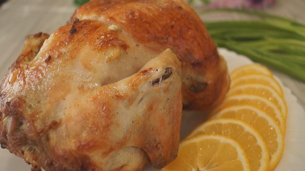 Курица в духовке на пиве