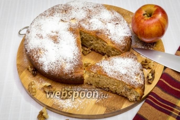 Фото Медовый яблочно-ореховый пирог