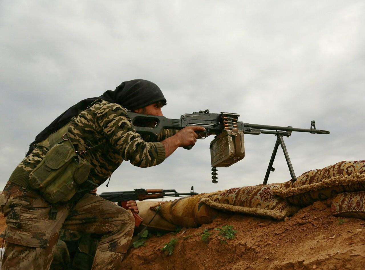 Сирийская армия засняла ожесточённые бои в пригороде Дамаска