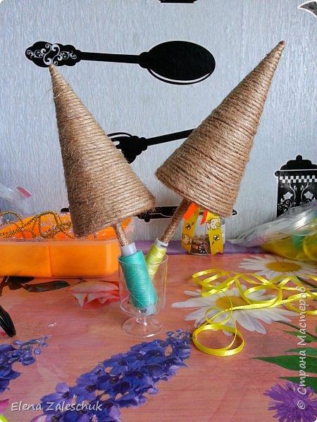 Макет модель Мастер-класс Новый год Цумами Канзаши МК ёлочек Бусины Гипс Картон Ленты Шпагат фото 12