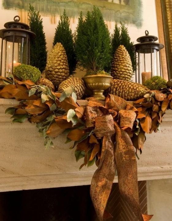 Золотая краска для новогоднего декора